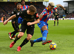 February 4, 2018 - London, England, United Kingdom - Crystal Palace's Patrick van Aanholt (Left)..during Premier League match between Crystal Palace and Newcastle United at Selhurst Park Stadium, London,  England on 04 Feb 2018. (Credit Image: © Kieran Galvin/NurPhoto via ZUMA Press)