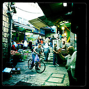 Jerusalem, Israel. September 20th 2011.A street scene in the historical old city...