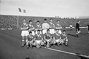 13/10/1963<br /> 10/13/1963<br /> Ireland v Austria, European Championship match at Dalymount Park, Dublin. Ireland won the game 3-2. The Irish team: Back row (l-r): Ray Brady, Mick McGrath, Tony Dunne, Alan Kelly, Charlie Hurley, Tommy Traynor. Front row (l-r): John Giles, Andy McEvoy, Noel Cantwell, Ambrose Fogarty and Joe Haverty.