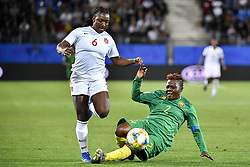 6?10????????????????????????????????.Deanne Rose (L) of Canada vies with Christine Manie (R) of Cameroon during..???????????????2019?6?11?.?????????——E??????????????.?????????????2019??????????E???????????1?0??????.?????????..(SP)FRANCE-RENNES-2019 FIFA WOMEN'S WORLD CUP-GROUP E-CANADA VS CAMEROON..(190611) -- MONTPELLIER, June 11, 2019  the group E match between Canada and Cameroon at the 2019 FIFA Women's World Cup in Montpellier, France on June 10, 2019. Canada won 1-0. (Credit Image: © Xinhua via ZUMA Wire)