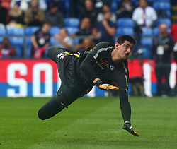 October 14, 2017 - London, England, United Kingdom - Chelsea's Thibaut Courtois during the pre-match warm-up .during Premier League  match between Crystal Palace and Chelsea at Selhurst Park Stadium, London,  England on 14 Oct 2017. (Credit Image: © Kieran Galvin/NurPhoto via ZUMA Press)