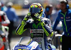 17.05.2015, Circuit, Le Mans, FRA, MotoGP, Grand Prix von Frankreich, im Bild 46 Valentino Rossi / Italien kurz vor Start // during the MotoGP Monster Energy France Grand Prix at the Circuit in Le Mans, France on 2015/05/17. EXPA Pictures © 2015, PhotoCredit: EXPA/ Eibner-Pressefoto/ Stiefel<br /> <br /> *****ATTENTION - OUT of GER*****