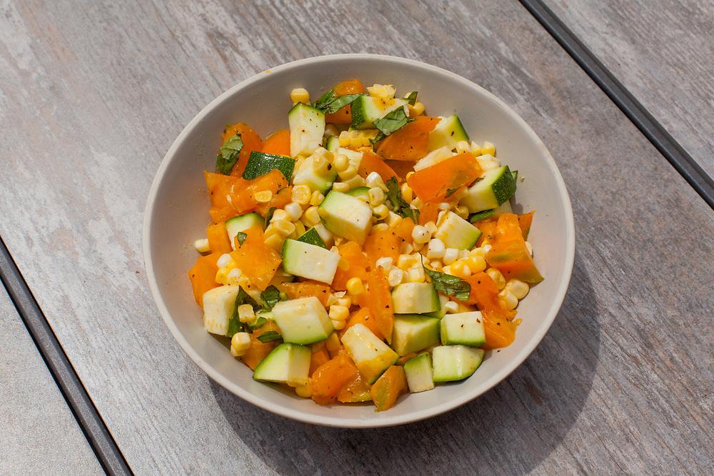 Corn, Tomato, & Zuchini Salad from the fridge (m€) - COVID-19 Social Distancing in RI