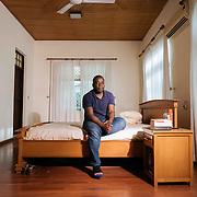 22nd Nov, 2018, Tema, Ghana: Kweku Adoboli, deported to Ghana on the 14 November 2018 now lives in his father's house in Tema, Ghana.
