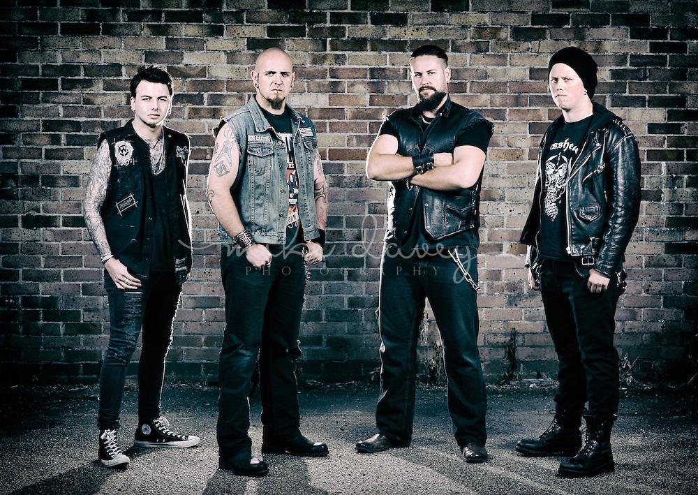 Promo shots of Cornwall based heavy metal band King Creature.