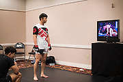 LAS VEGAS, NV - JULY 8:  Doo Ho Choi waits in the locker room before The Ultimate Fighter Finale at MGM Grand Garden Arena on July 8, 2016 in Las Vegas, Nevada. (Photo by Cooper Neill/Zuffa LLC/Zuffa LLC via Getty Images) *** Local Caption *** Doo Ho Choi