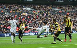 Raul Jimenez of Wolverhampton Wanderers scores a goal to make it 0-2 - Mandatory by-line: Arron Gent/JMP - 07/04/2019 - FOOTBALL - Wembley Stadium - London, England - Watford v Wolverhampton Wanderers - Emirates FA Cup Semi Final