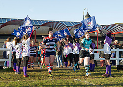 Bristol and Worcester players run out at Cleve RFC - Mandatory by-line: Paul Knight/JMP - 04/12/2016 - RUGBY - Cleve RFC - Bristol, England - Bristol Ladies v Worcester Valkyries - RFU Women's Premiership