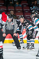 KELOWNA, CANADA - OCTOBER 23: Tyson Baillie #24 of Kelowna Rockets lines up against the Prince George Cougars on October 23, 2015 at Prospera Place in Kelowna, British Columbia, Canada.  (Photo by Marissa Baecker/Shoot the Breeze)  *** Local Caption *** Tyson Baillie;