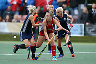Hannah Cozens of Wales © in action. Belarus v Wales, EuroHockey 11 Women's championshp 2017 in Cardiff, South Wales , Wednesday 9th August 2017<br /> pic by Andrew Orchard