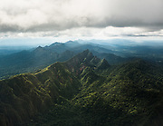 The flight from La Paz to Rurrenabaque. Aerial view of the Amazonian jungle, home of the Tsimane.