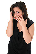 Emotional woman On white Background