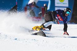 Jernej Glavan (SLO) during parallel slalom FIS Snowboard Alpine World Championships 2021 on March 2nd 2021 on Rogla, Slovenia. Photo by Grega Valancic / Sportida
