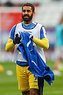 Bristol Rovers forward Stefan Payne (9) warms up prior to the EFL Sky Bet League 1 match between Charlton Athletic and Bristol Rovers at The Valley, London, England on 24 November 2018.