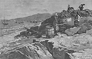 Spreading cod on rocks to dry - Labrador, 1883