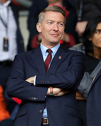 """Southampton director David Thomas in the stands before the Premier League match at St Mary's, Southampton. PRESS ASSOCIATION Photo. Picture date: Sunday August 12, 2018. See PA story SOCCER Southampton. Photo credit should read: Andrew Matthews/PA Wire. RESTRICTIONS: EDITORIAL USE ONLY No use with unauthorised audio, video, data, fixture lists, club/league logos or """"live"""" services. Online in-match use limited to 120 images, no video emulation. No use in betting, games or single club/league/player publications."""