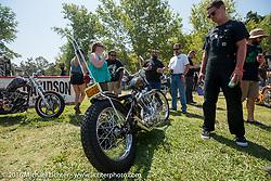 BF8 Invited builder Tim Vander's Vander Built custom 1961 Harley-Davidson Panhead at the Born Free Motorcycle Show-8 at Oak Canyon Ranch. Silverado, CA, USA. Saturday June 25, 2016.  Photography ©2016 Michael Lichter.