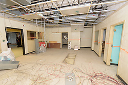 Central High School Bridgeport CT Expansion & Renovate as New. State of CT Project # 015-0174. One of 95 Photographs of Progress Submission 12, 01 February 2016. View on Key Plan 2 of 3. Upper Level Demolition Plan Part A