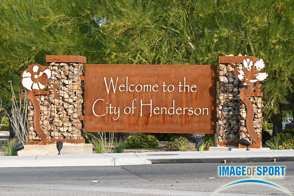 Detailed view of a Welcome to the City of Henderson sign, Monday, Sept. 14, 2020, in Henderson, Nev. (Dylan Stewart/Image of Sport)