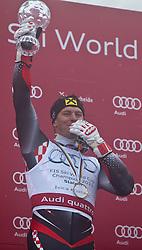 19.03.2011, Pista Silvano Beltrametti, Lenzerheide, SUI, FIS Ski Worldcup, Finale, Lenzerheide, Podium, im Bild Siegerehrung Slalom Gesamtweltcup Gesamtweltcup Sieger, Ivica Kostelic (CRO) // Overall Weltcup Winner, Men, Ivica Kostelic (CRO) during Men´s Downhill, at Pista Silvano Beltrametti, in Lenzerheide, Switzerland, 19/03/2011, EXPA Pictures © 2011, PhotoCredit: EXPA/ J. Feichter