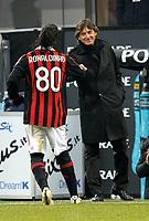 Fotball<br /> Italia<br /> Foto: Inside/Digitalsport<br /> NORWAY ONLY<br /> <br /> Leonardo celebration for Ronaldinho 4-0 leading goal scored for Milan<br /> <br /> 17.01.2010<br /> Milan v Siena