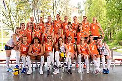 Teamphoto Netherlands, Photoshoot selection of Orange women's volleybal team season 2021on may 12, 2021 in Arnhem, Netherlands (Photo by RHF Agency/Ronald Hoogendoorn)