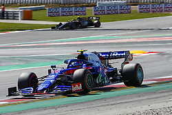 May 11, 2019 - Barcelona, Catalonia, Spain - Scuderia Toro Rosso HONDA driver Alexander Albon (23) of Thailand during F1 Grand Prix qualifying celebrated at Circuit of Barcelona 11th May 2019 in Barcelona, Spain. (Credit Image: © Mikel Trigueros/NurPhoto via ZUMA Press)