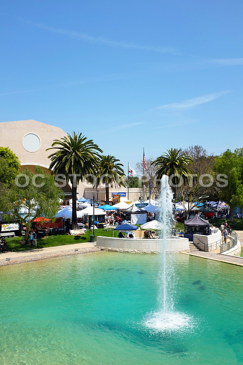 Peace Lake Fountain at Soka University During the 18th Annual International Festival