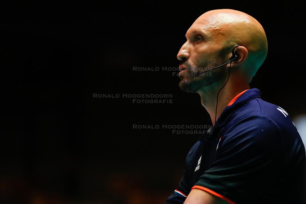 20180531 NED: Volleyball Nations League Netherlands - Brazil, Apeldoorn<br />Jamie Morrison, headcoach of The Netherlands <br />©2018-FotoHoogendoorn.nl