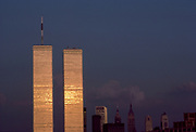 World Trade Center Sunset, New York City, New York, USA,  June 1983