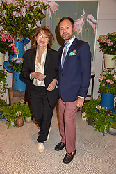 Jane Birkin and Arnaud Champenois of Belmond at the Belmond Cadogan Hotel Grand Opening, Sloane Street, London England. 16 May 2019. <br /> <br /> ***For fees please contact us prior to publication***