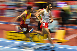March 2, 2018 - Birmingham, England, United Kingdom - Adam Kszczot of Poland at 800 meter semi final at World indoor Athletics Championship 2018, Birmingham, England on March 2, 2018. (Credit Image: © Ulrik Pedersen/NurPhoto via ZUMA Press)
