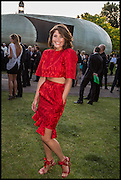 GEMMA ARTERTON, 2014 Serpentine's summer party sponsored by Brioni.with a pavilion designed this year by Chilean architect Smiljan Radic  Kensington Gdns. London. 1July 2014