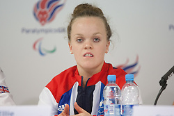 © London News Pictures. 27/08/2012. Ellie Simmonds MBE - swimmer. Press call at ParalympicGB House in Stratford. Photo credit should read Manu Palomeque/LNP