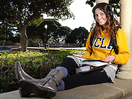 "Portrait of Lauren Berger shot for use as part of a photo illustration in the Daily Bruin ""Prime"" fashion and lifestyle magazine."