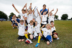 Mark Sorenson of Bristol Rugby looks after a team as Local Junior Schools compete in a Tag Rugby Competion - Mandatory byline: Rogan Thomson/JMP - 07966 386802 - 14/07/2015 - SPORT - RUGBY UNION - Bristol, England - Durdham Downs -  Webb Ellis Cup visits Bristol as part of the 2015 Rugby World Cup Trophy Tour