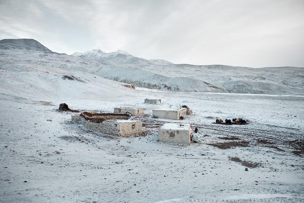 The Kyrgyz camp of Ak Chyktash in winter.