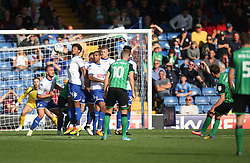 Josh Morris of Scunthorpe United (R) scores his sides first goal from a free kick - Mandatory by-line: Jack Phillips/JMP - 02/09/2017 - FOOTBALL - Gigg Lane - Bury, England - Bury v Scunthorpe United - English Football League One