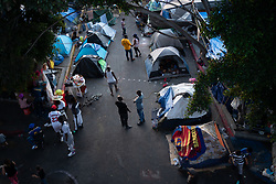 Thousands of people are stuck at an informal camp of asylum seekers at El Chaparral, Tijuana, Mexico, many of them have been waiting for their petition for asylum to be heard for months. Most of the people at the camp are from Central America and Haiti, the majority from Honduras, but many are also fleeing violence in Guerrero and Michoacan in Mexico. For many the journey to get here was extremely hazardous, crossing Mexico on the top of La Bestia, the train also known as El Tren de la Muerte. Many have been kidnapped and extorted by organised crime groups, and the dangers in the unpoliced camp are also very high, particularly for girls and women.