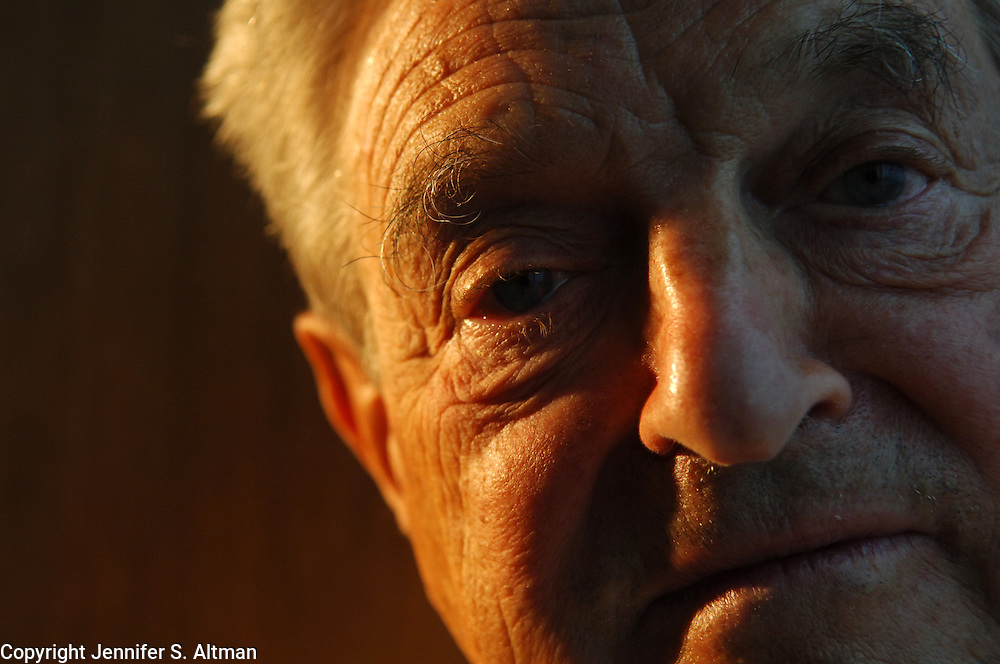 Georfe Soros is seen in his offices in Manhattan, NY.  7/12/2006 Photo by Jennifer S. Altman/For The Times