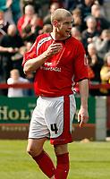 Photo: Paul Greenwood.<br />Accrington Stanley v Macclesfield Town. Coca Cola League 2. 28/04/2007.<br />Accrington goal scorer Robert Williams