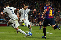 October 24, 2018 - Barcelona, Spain - Mauro Icardi during the match between FC Barcelona and Inter, corresponding to the week 3 of the group stage of the UEFA Champions Leage, played at the Camp Nou Stadium, on 24th October 2018, in Barcelona, Spain. (Credit Image: © Joan Valls/NurPhoto via ZUMA Press)