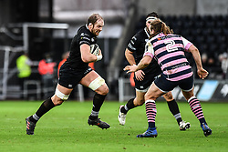 Ospreys' Alun Wyn Jones on the charge<br /> <br /> Photographer Craig Thomas/Replay Images<br /> <br /> Guinness PRO14 Round 13 - Ospreys v Cardiff Blues - Saturday 6th January 2018 - Liberty Stadium - Swansea<br /> <br /> World Copyright © Replay Images . All rights reserved. info@replayimages.co.uk - http://replayimages.co.uk