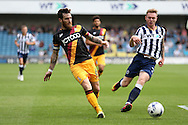 Romain Vincelot, the Bradford City captain (l)  in action.  EFL Skybet football league one match, Millwall v Bradford city at The Den in London on Saturday 3rd September 2016.<br /> pic by John Patrick Fletcher, Andrew Orchard sports photography.
