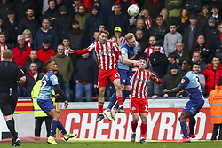 March 9, 2019 - High Wycombe, Buckinghamshire, United Kingdom - Sunderlands Aiden McGeady wins a header during the Sky Bet League 1 match between Wycombe Wanderers and Sunderland at Adams Park, High Wycombe, England  on Saturday 9th March 2019. (Credit Image: © Mi News/NurPhoto via ZUMA Press)