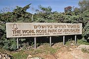 The Wohl Rose park of Jerusalem