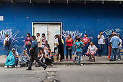 2016/05/26 - Caracas, Venezuela: People queuing outside of Plan Suarez supermarket in La Urbina, Caracas. Even if there aren't subsidized products available on the supermarkets, people start queuing for hours in order to be in the front line if any product is made available. (Eduardo Leal)