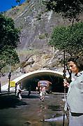 Road tunnel through hillside, Copacabana, Rio de Janeiro, Brazil, South America 1962