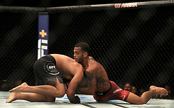 Claudio Silva (right) and Danny Roberts in action during their Welterweight bout during UFC Fight Night 147 at The O2 Arena, London.