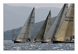 Bell Lawrie Scottish Series 2008. Fine North Easterly winds brought perfect racing conditions in this years event..Class 2 Start GBR9369R Bataleur 97 , IRL3550 Exaltation, IRL789 Rosie and GBR593R Duckwall Pooley
